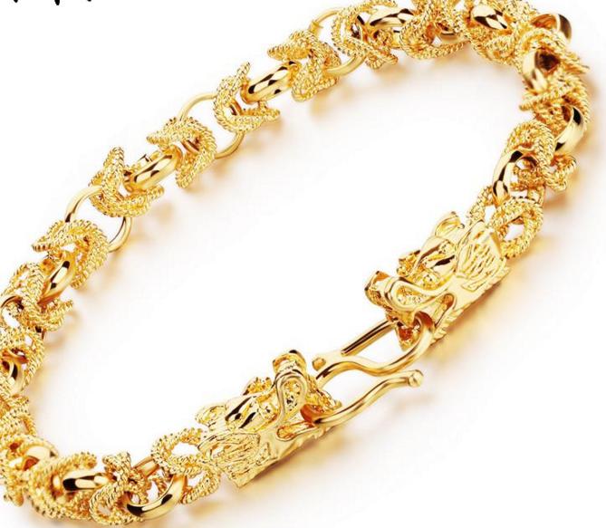 Fashion Design Copper Bracelet Gold
