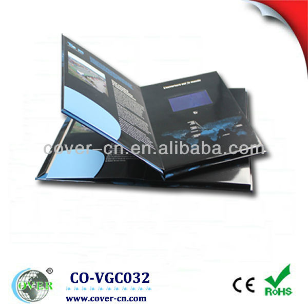 High quality A4 4.3 inch TFT lcd video greeting card, lcd video cards
