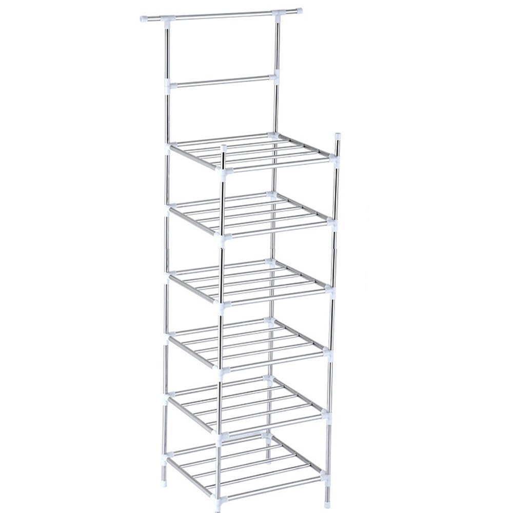 Teerfu Wire Shelving Unit 6 Tier Standing Stainless