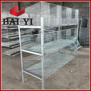 BAIYI Large Metal Cheap Commercial / Breeding / Female Rabbit Cages