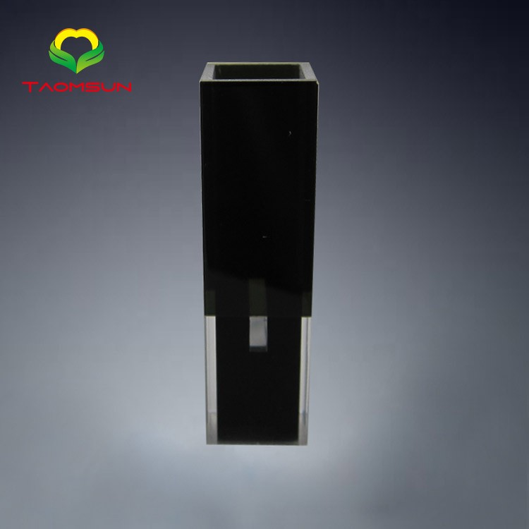 Flowthrough cell with glass(721) black walls