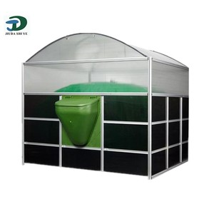 mini portable biogas plant machinery, domestic pit latrine waste biogas digester