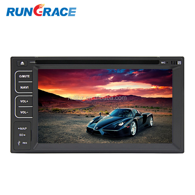 cheap made in china car dvd player with reversing camera/RDS/bluetooth/free map