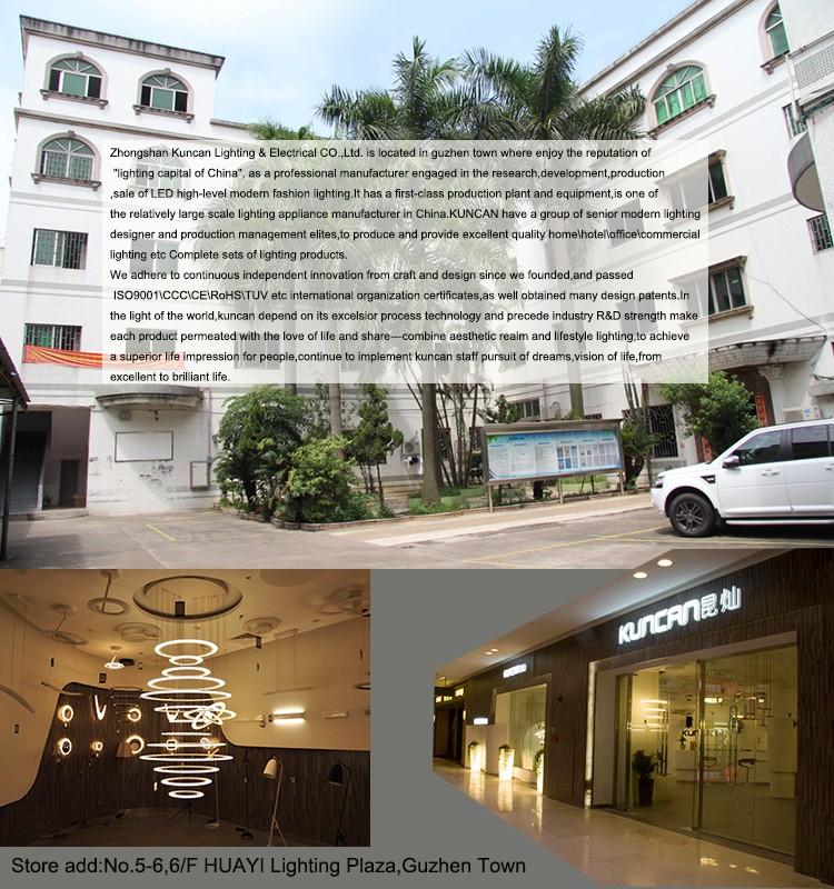 Hotel Lobby Multi-layer Circle Shape Led Chandelier Kuncan ...
