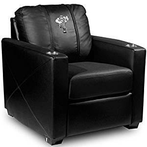 XZipit College Silver Chair with Northern Arizona University Lumberjacks Logo Panel, Black