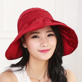 Design Korean Sun Protection Cap Visor Hat Wide Brim - Buy Visor ... ba9d8c2e150