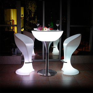 Bar illuminated led furniture dubai bar table and chairs