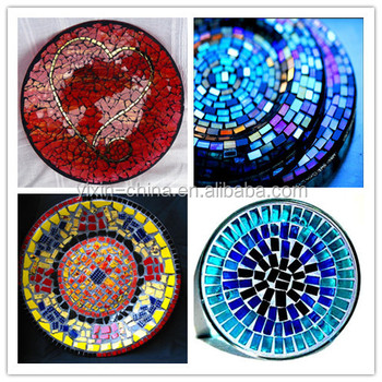 blue color mosaic decorative plates for home and wedding decoration & Blue Color Mosaic Decorative Plates For Home And Wedding Decoration ...