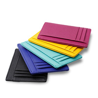 cross grain leather rfid blocking card holder sleeve