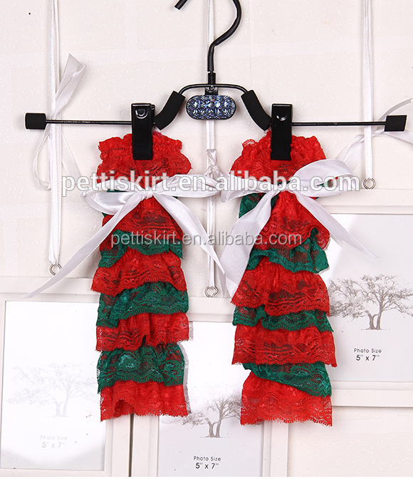 Hot sales lovely red lace leg warmers bow wholesale infant boutique splice