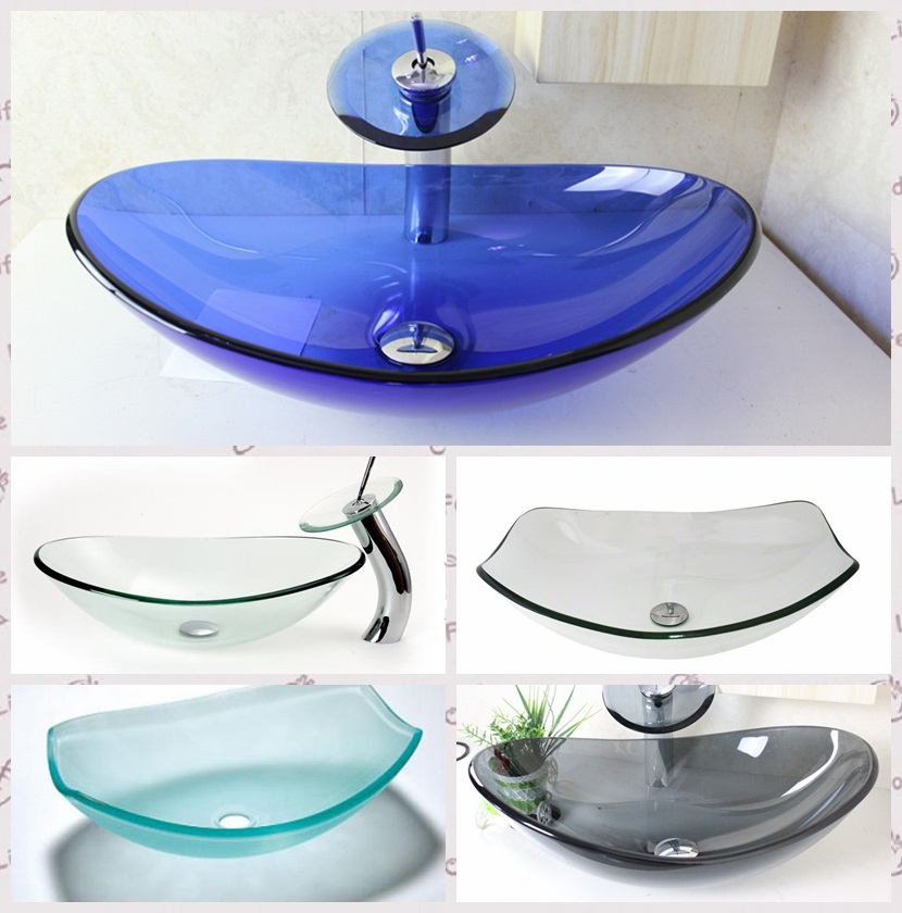 Glass Vessel Bathroom Sinks.Turquoise Square Bathroom Sink Artistic Tempered Glass Vessel Sink Combo With Faucet 1 5 Gpm And Pop Up Drain Bathroom Bowl Buy Vessel Sink Vanity