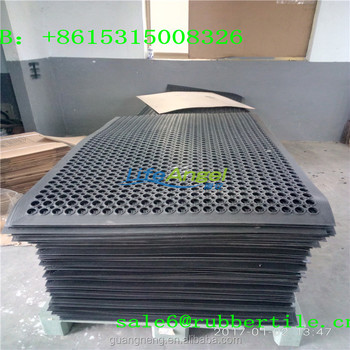 Geperforeerde Rubber Mat.Geperforeerde Rubber Modulaire Vloeren Drainage Keuken Veiligheid