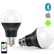 RGBW e27 bluetooth led bulb light control on iphone with timer, wake up function