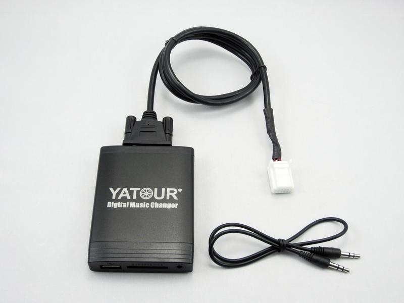 Adaptador usb est reo del mp3 aux bluetooth interfaz de cambiador de cd para toyota buy - Instalar puerto usb en coche ...