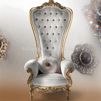 Hot selling antique wedding queen king throne chair for Sale