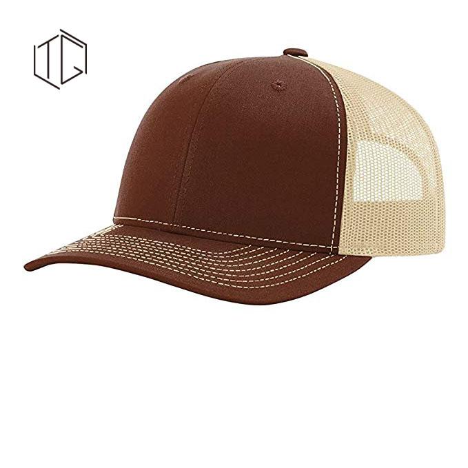 空白メッシュ調整可能なコットン 6 パネルトラック運転手の帽子