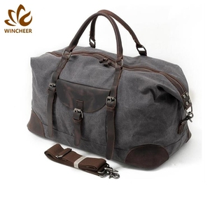 Factory price high quality durable duffel canvas duffle travel mens weekend bag