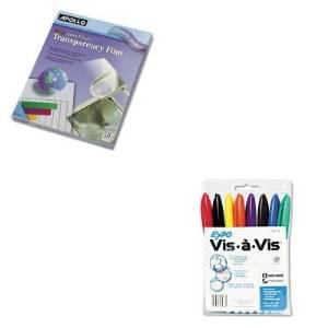 KITAPOCG7070SAN16078 - Value Kit - Apollo Color Laser Printer/Copier Transparency Film (APOCG7070) and Expo Vis--Vis Wet-Erase Marker (SAN16078)