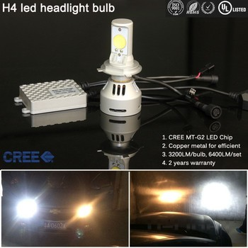 H4 Led Headlight With Mt-g2 Chip 38w 3200lumen For Cruze Led ...