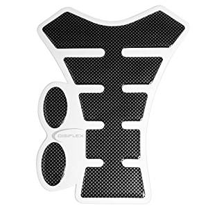 TRIXES Universal Carbon Look Spine Motorcycle Tank Protector Protection Pad