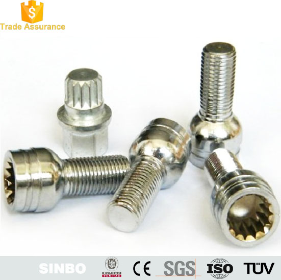 Dome/hex head m7 titanium bolt/screw,titanium fastener for motorcycle