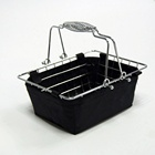 cosmetic mesh shopping stackable metal basket with handle