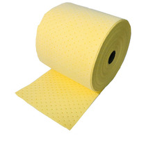dimpled and perforated absorbent pads and rolls