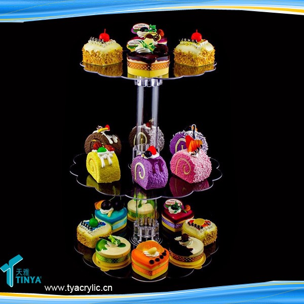 Disassembled Cupcake Tree Deseert Stand For Wedding,Round 3/4/5/6 Tier Clear Acrylic Wedding Cupcake Cake Stand Tower Wholesale