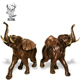 Discount sculpture metal elephant garden ornament for sale