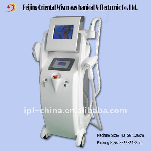 E-Light(IPL+RF) beauty machine for skin care/hair removal/freckle removal...
