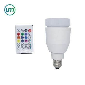New Remote Control Lamp Bulb LED Speaker Bluetooth LED Music Bulb