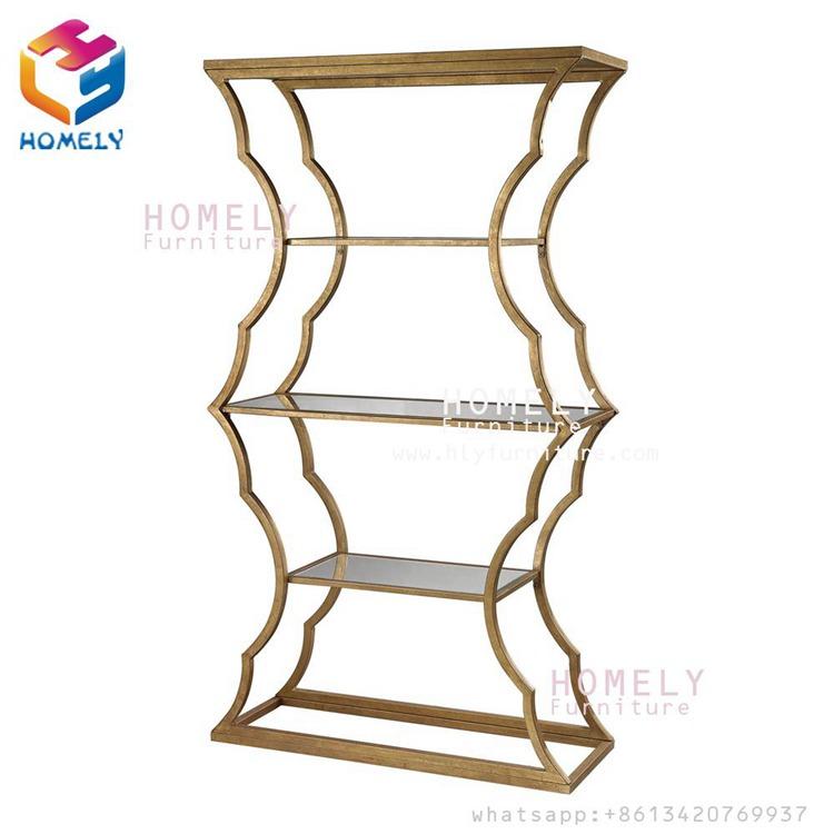 Wedding furniture New Design Furniture Modern Hotel Banquet Event Metal Luxury Stainless Steel Wine Shelf for Wholesale