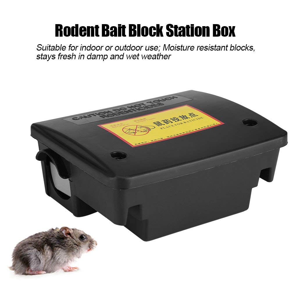 Dioche Rat Mouse Trap, Rodent Bait Block Station Box Case Trap Rat Mouse Mice with Keys