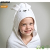 China wholesale kids velvet dress cotton baby bathrobe with animal hooded