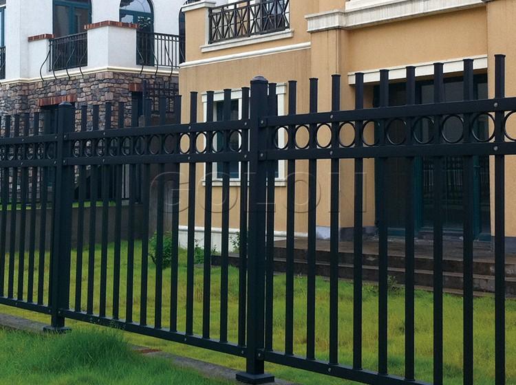 Factory Black Power Coated Iron Fence Panels Wrought Iron