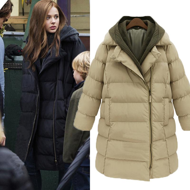 Down winter coat women