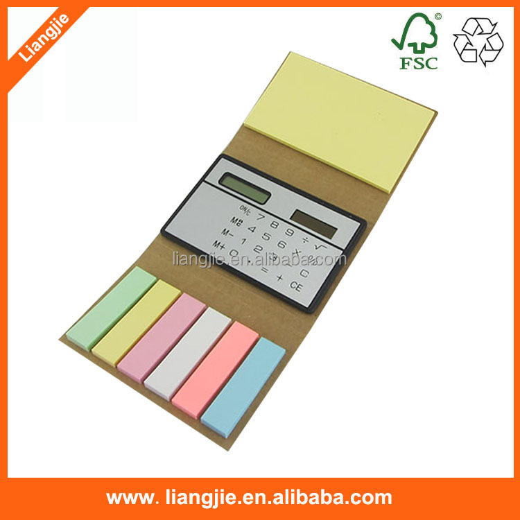Custom Calculator notepad, Calculator notepad with strips, recycled notepad with strips