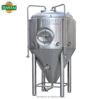 Used glycol jacketed conical stainless beer fermenter with 80mm insulation 10hl 20hl 30hl 40hl 50hl 60hl 70hl 80hl 90hl 100hl