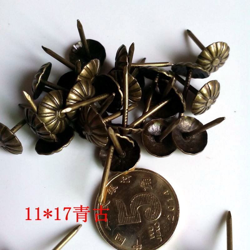 11*17mm flower shape nail bronze for factory wholesale