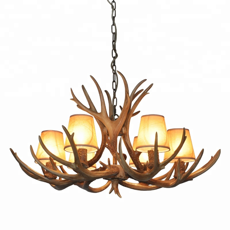 American pastoral style antler chandelier decorative creative personality lamps