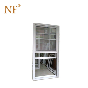 Aluminum American double glazing style single hung window
