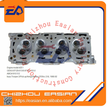 4ZE1 auto engine cylinder head OE 897129631 8971111550 8970236740 AMC 910512 910511 for Trooper II Pick-up Amigo fit for isuzu