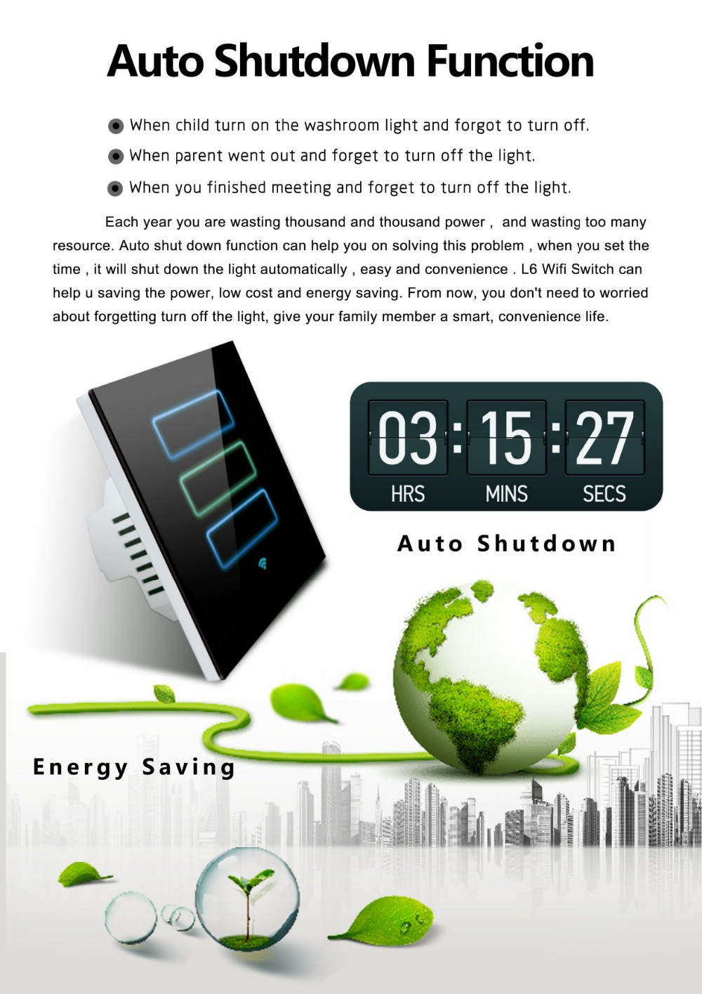 2016 Lanbon Wifi Home Automation Smart Power Wall Switch Controlled Via Ios  And Android App  - Buy Home Automation,Wall Switch,Switch Controlled Via