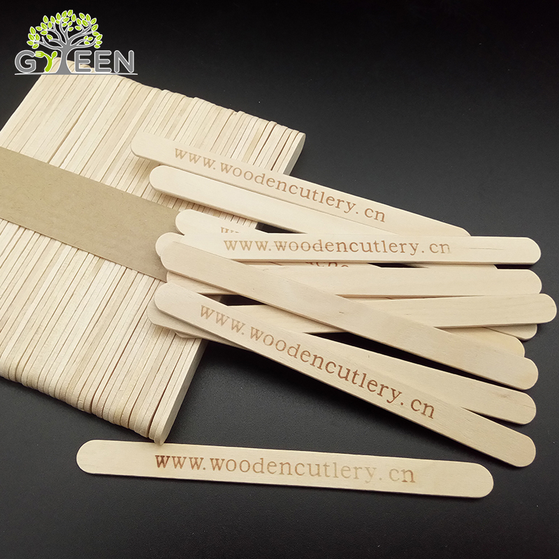 Eco-friendly monouso in legno di betulla stampato popsicle sticks
