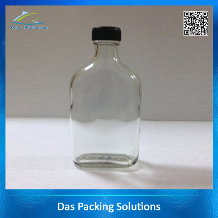 170ml Clear Glass Spirit Bottle with Screw Cap