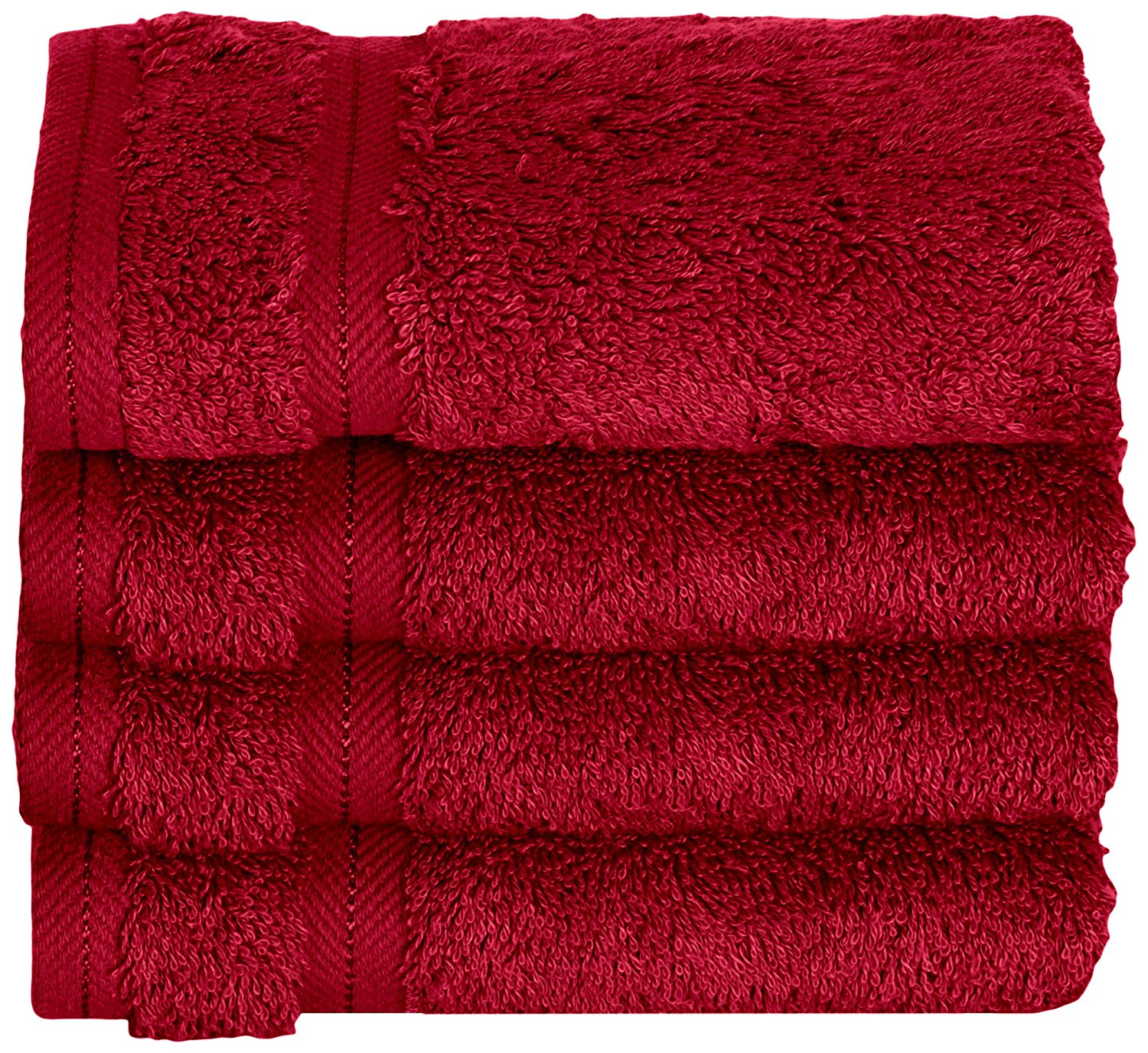 Daisy House 4 Piece Rayon Derived from Bamboo Wash Cloths, Bordeaux