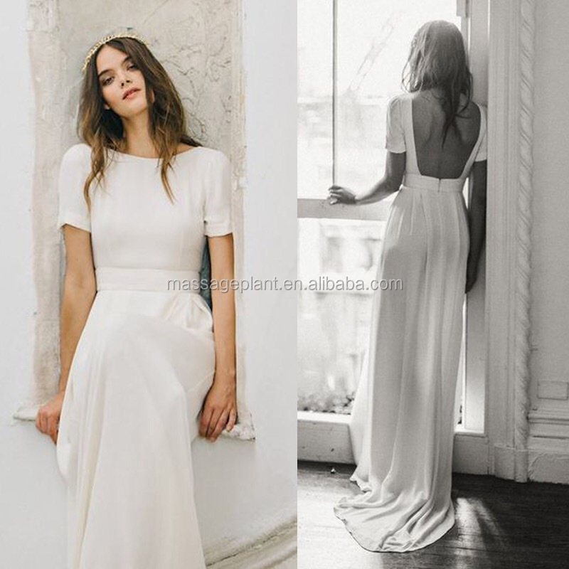 Handmade Einfache brautkleid Boho kleid Casual trauung kleid ...