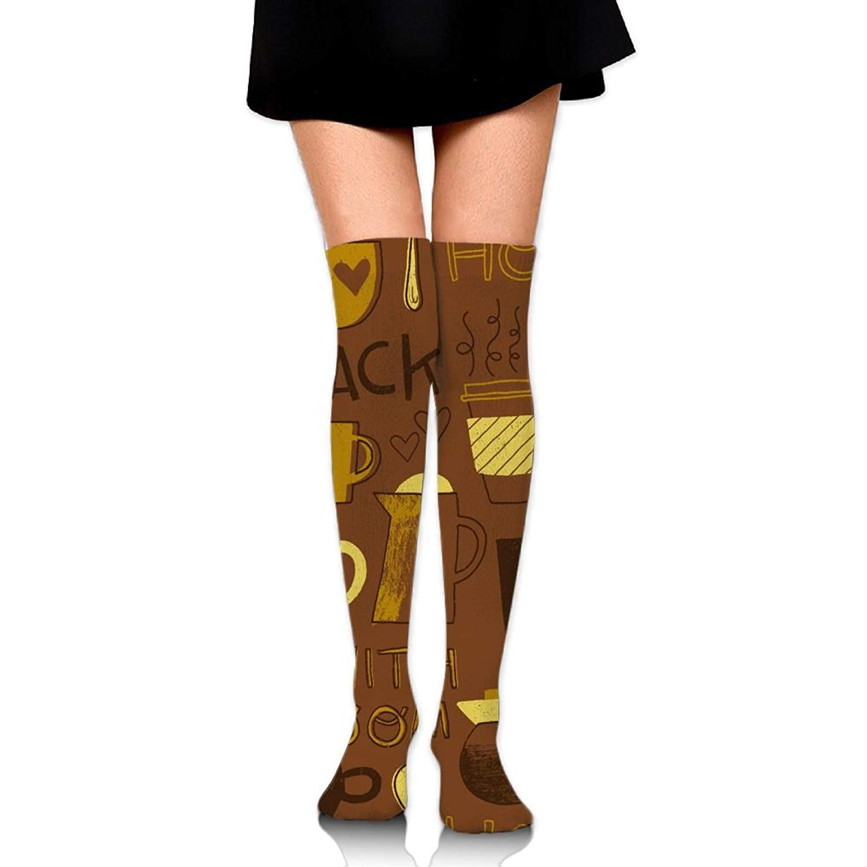 Zaqxsw Coffee Women Vintage Thigh High Socks Girls Socks For Womens