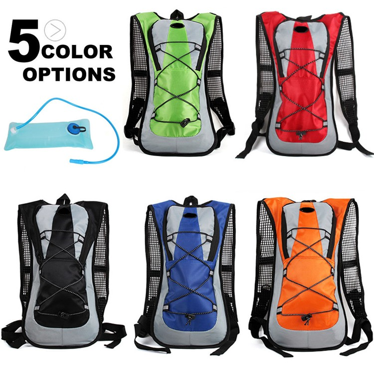 new design sports waterproof cycling backpack with water bag pocket