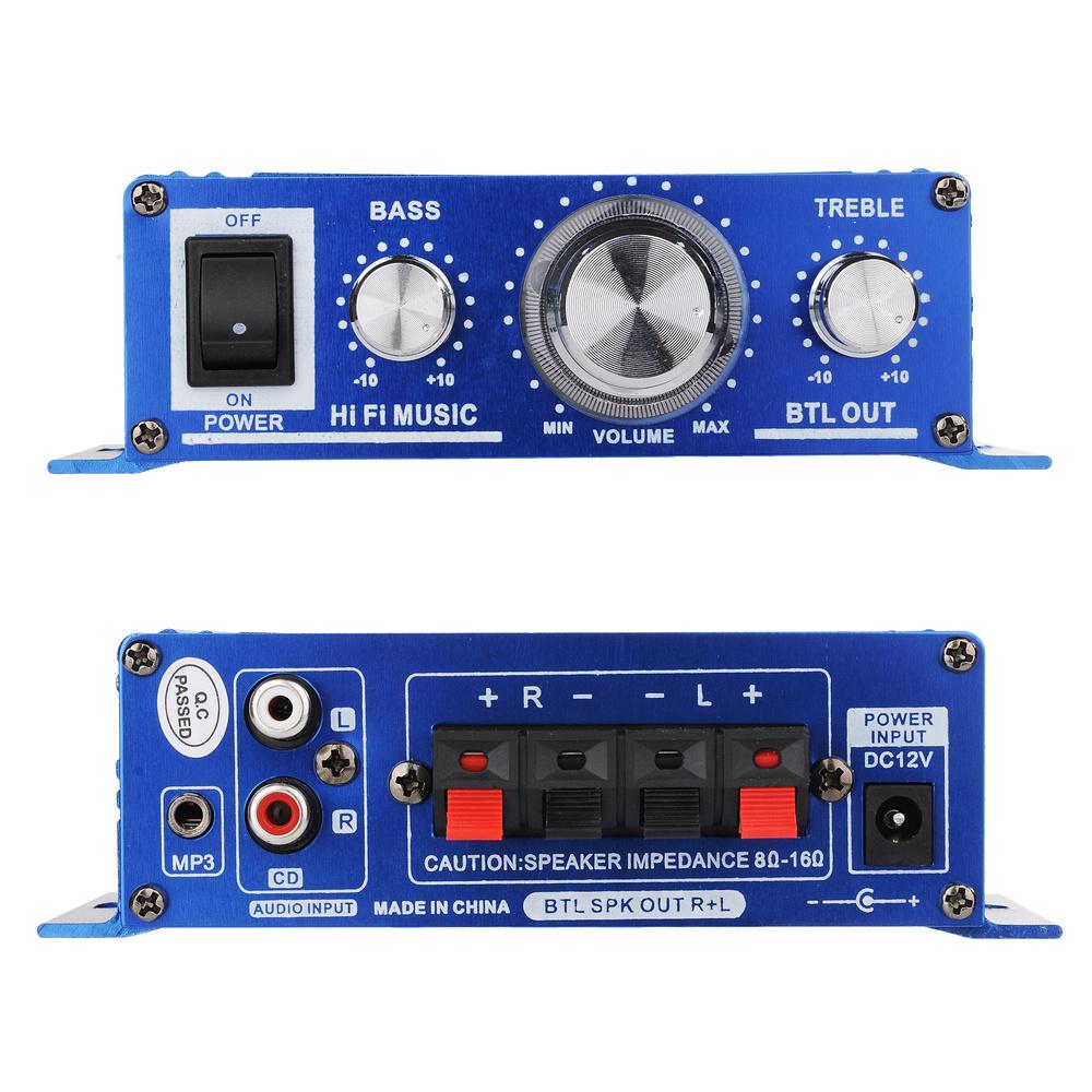 Buy 12v Compact Mini Hi Fi Car Audio Home Theater Stereo Speaker